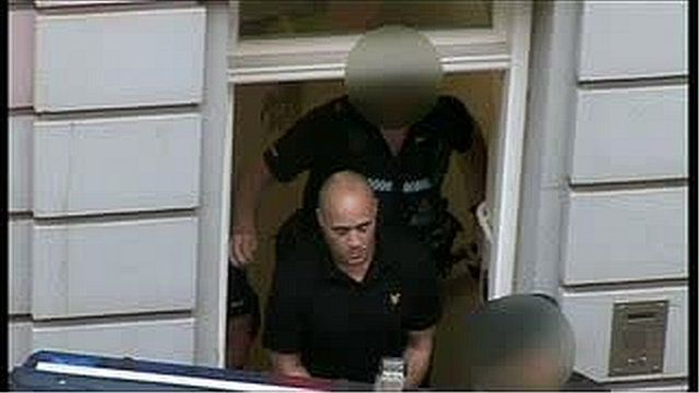 Curtis Warren outside Jersey's Magistrates Court