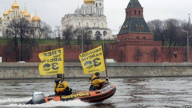 Protesters took to speedboats in Moscow on Wednesday