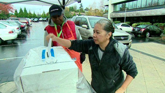 Woman votes in SeaTac