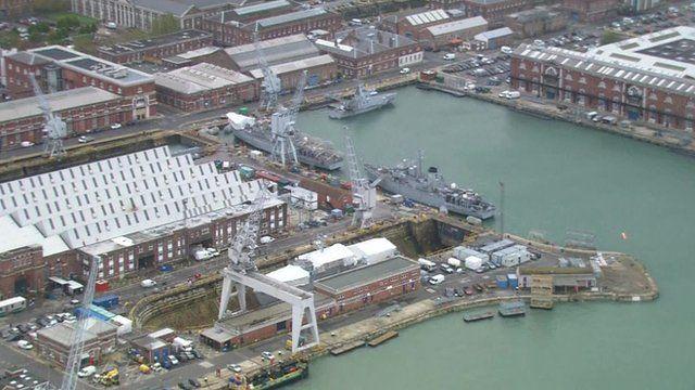 Portsmouth docks