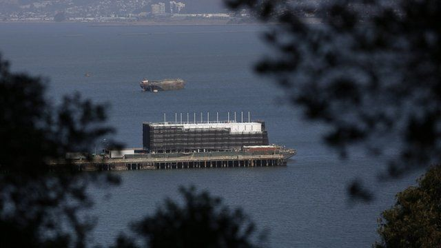 One of the 'mystery' barges in San Francisco Bay