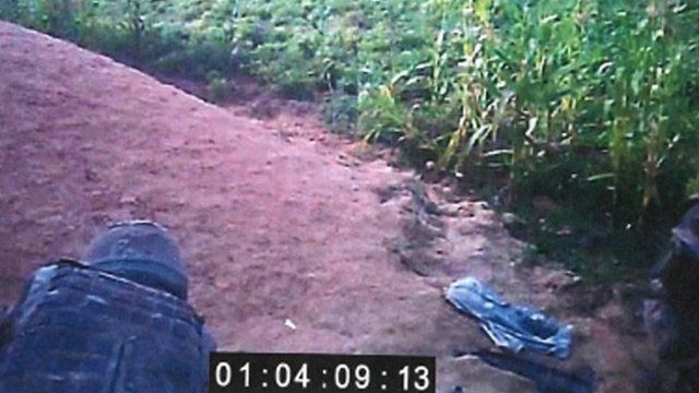 Footage taken from marine's camera