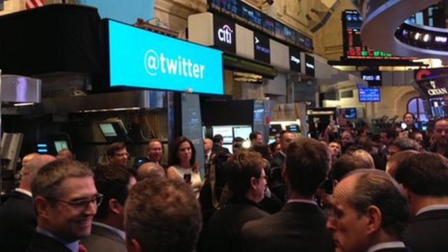 Twitter shares jump 73% in market debut