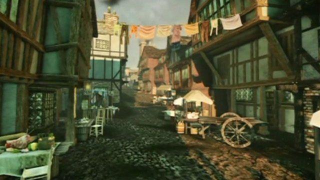 3D view of Tudor London