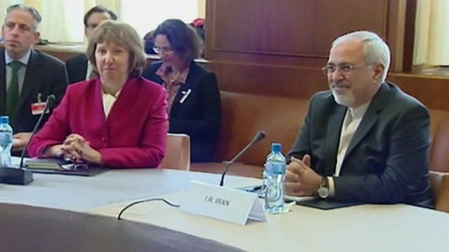 EU diplomat Catherine Ashton and Iranian Foreign Minister Mohammad Javad Zarif