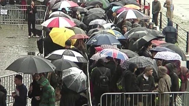 Crowds in Bristol