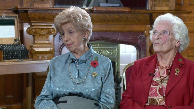 Ruth Bourne and Betty Webb