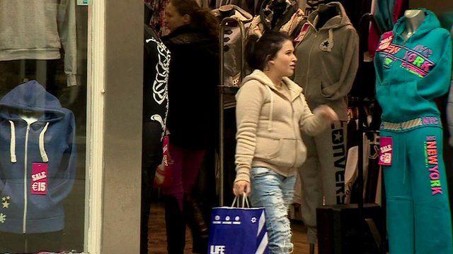 Shoppers in Ireland