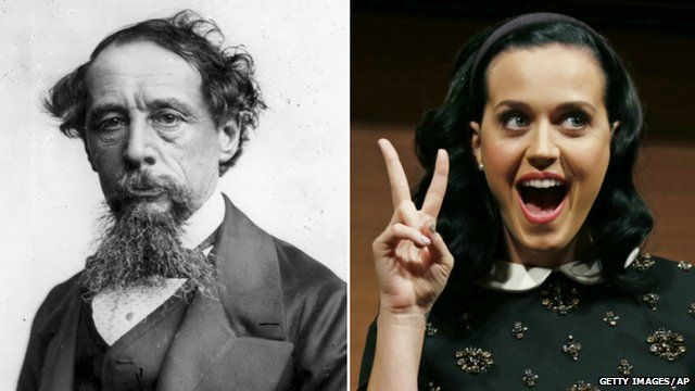 Charles Dickens and Katy Perry
