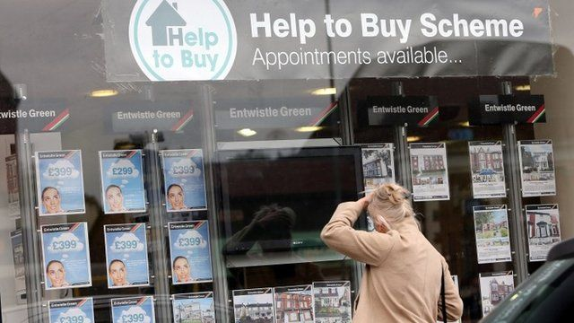 Help to Buy scheme sign in estate agent window