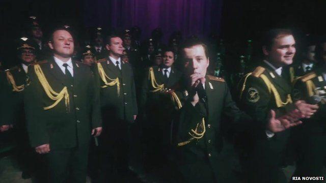 Police choir sing Get Lucky