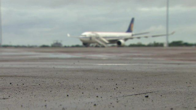 Plane on tarmac at Cebu International Airport