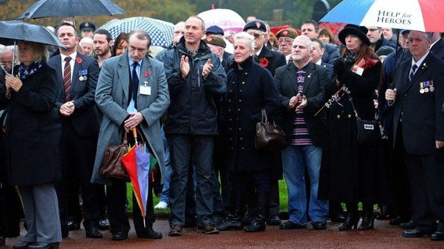 Mourners gather at the funeral