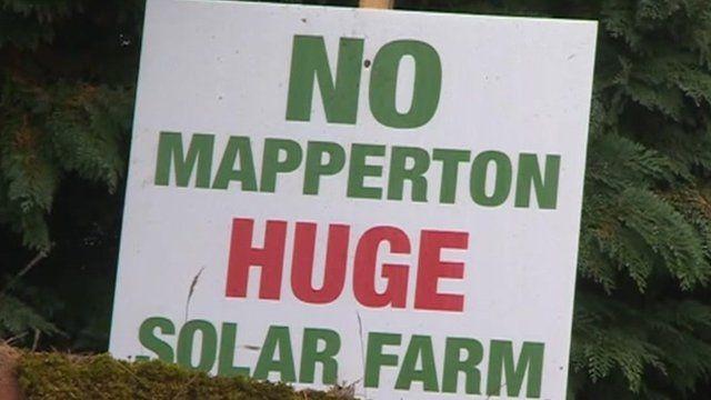 Anti-solar farm sign