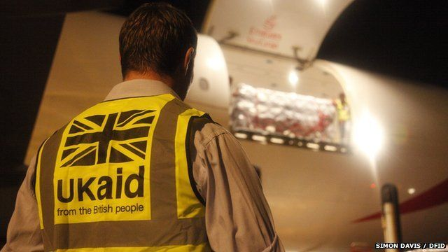 The first UK aid arrives in the Philippines