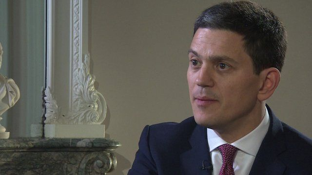 President of the International Rescue Committee, David Miliband