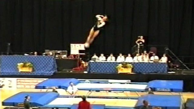 Natalie Burr on the trampoline