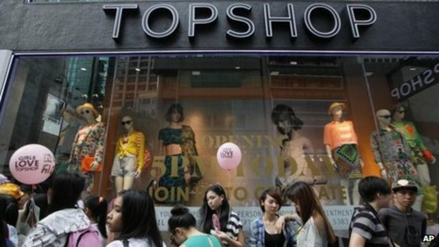 Topshop owner reports slide in sales