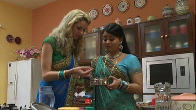 Dutch actress on Indian tv set