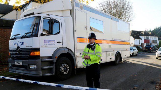 Police activity in Warlingham