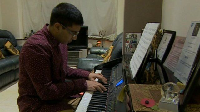 Khushal Shah playing electric piano