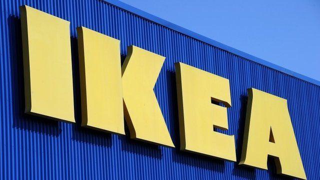Ikea logo on shop