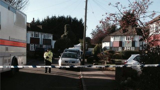 Murder investigation at Audley Drive