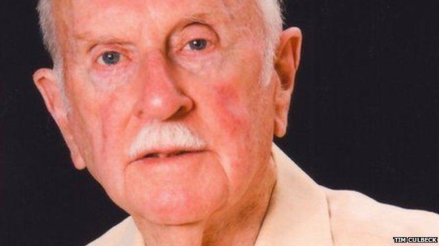 Dennis Wilson, the 92-year-old war poet.