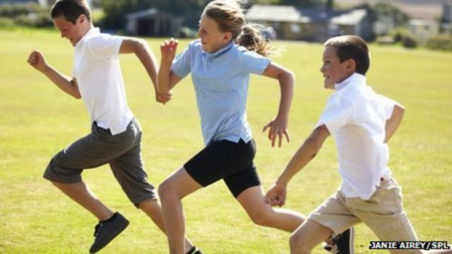 Many children 'slower runners than their parents were'