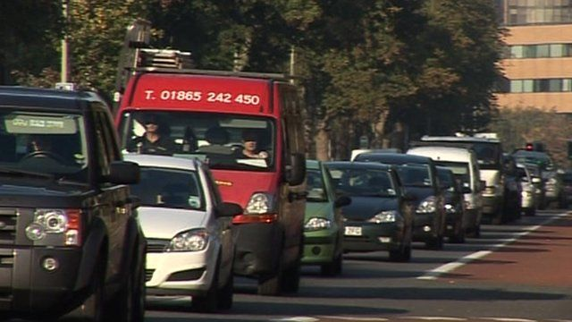 Congestion on Oxford ring road