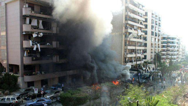 The blast at the Iranian embassy in Lebanon