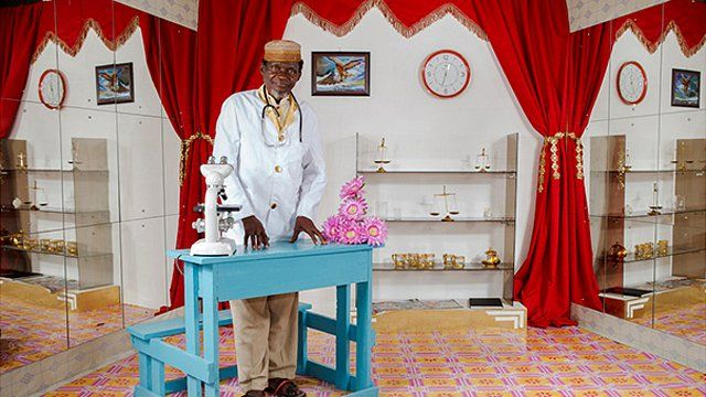 Pata Picha Studio Photograph, 2012. One of a series of portraits taken in Kilifi, Kenya. By Miriam Syowia Kyambi and James Muriuki. Courtesy of Wellcome Collection, London