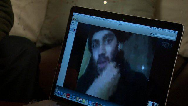 Ifthekar Jaman talking to Richard Watson via internet