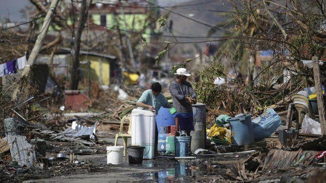 Scene from the Philippines where Typhoon Haiyan hit