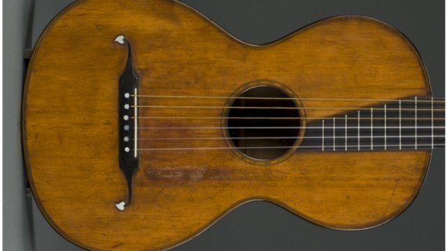 A classic Martin guitar