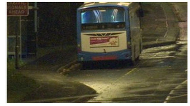 The bus driver was ordered to drive to Strand Road police station in Londonderry with a bomb on board