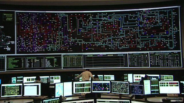Inside National Grid centre