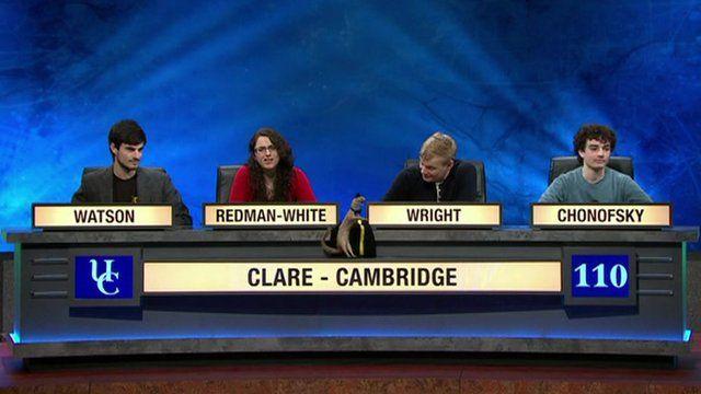Clare - Cambridge team on University Challenge
