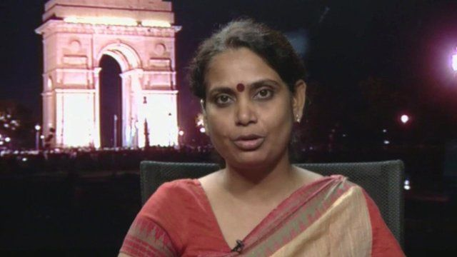 Smita Mishra from the Indian Women's Press Corps
