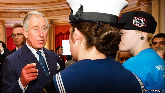 Prince Charles and young volunteers