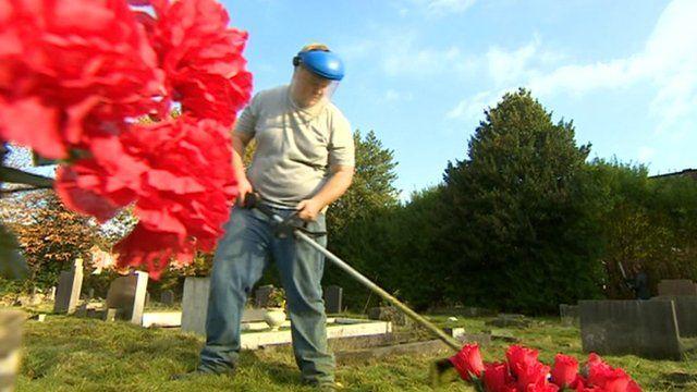 John Mackenzie is employed to do gardening and grounds maintenance
