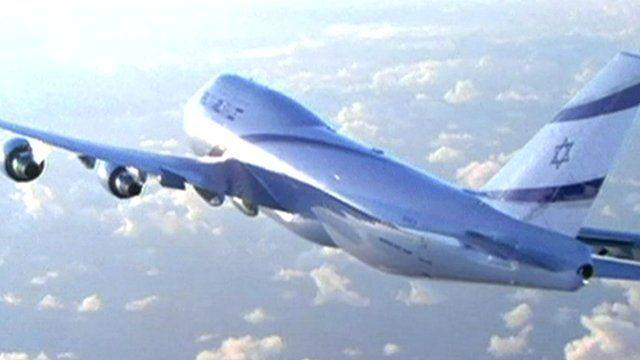 El Al plane in flight