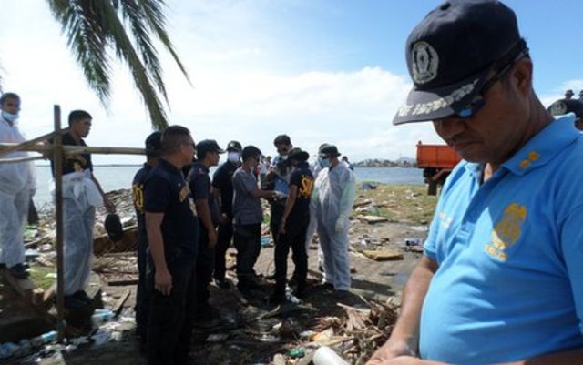 Typhoon Haiyan: The search for bodies