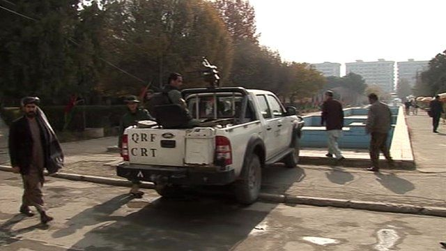 Security personnel in Kabul