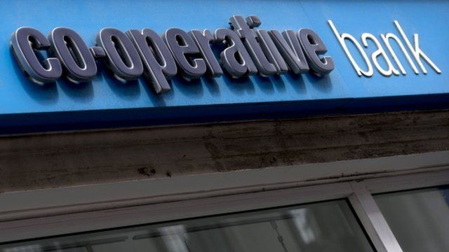 Signage on front of a Co-operative Bank branch