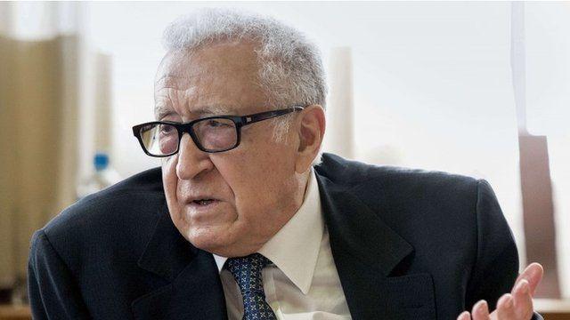 UN special envoy to Syria Lakhdar Brahimi