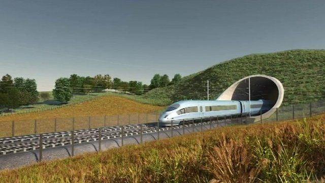 HS2 rail graphic