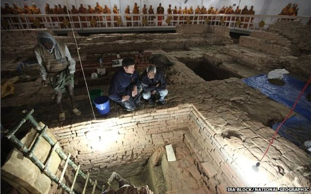'Earliest shrine' uncovered at Buddha's birthplace