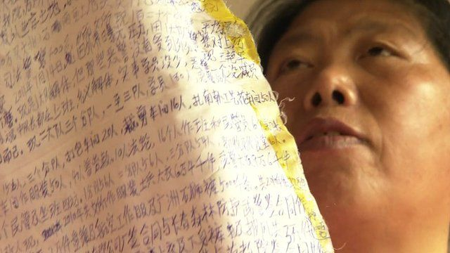 Liu Hua with extracts of her secret diary