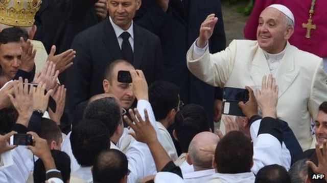 Pope Francis calls for power to move away from Vatican
